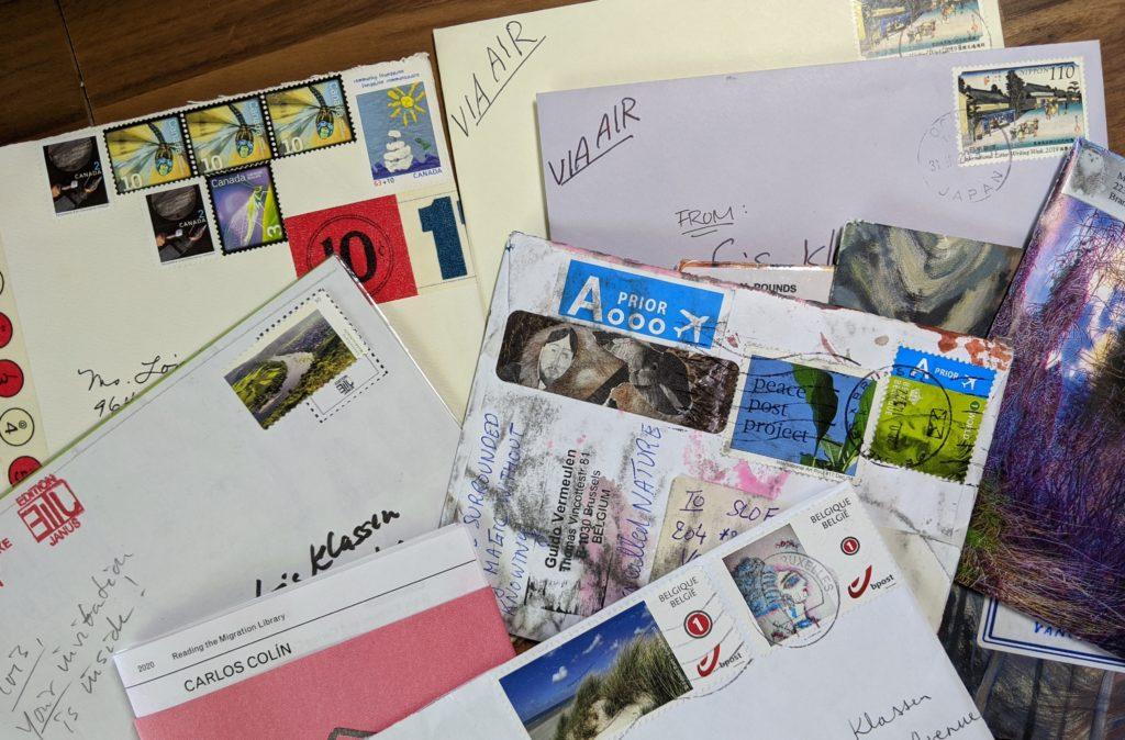 Mail Art on my desk