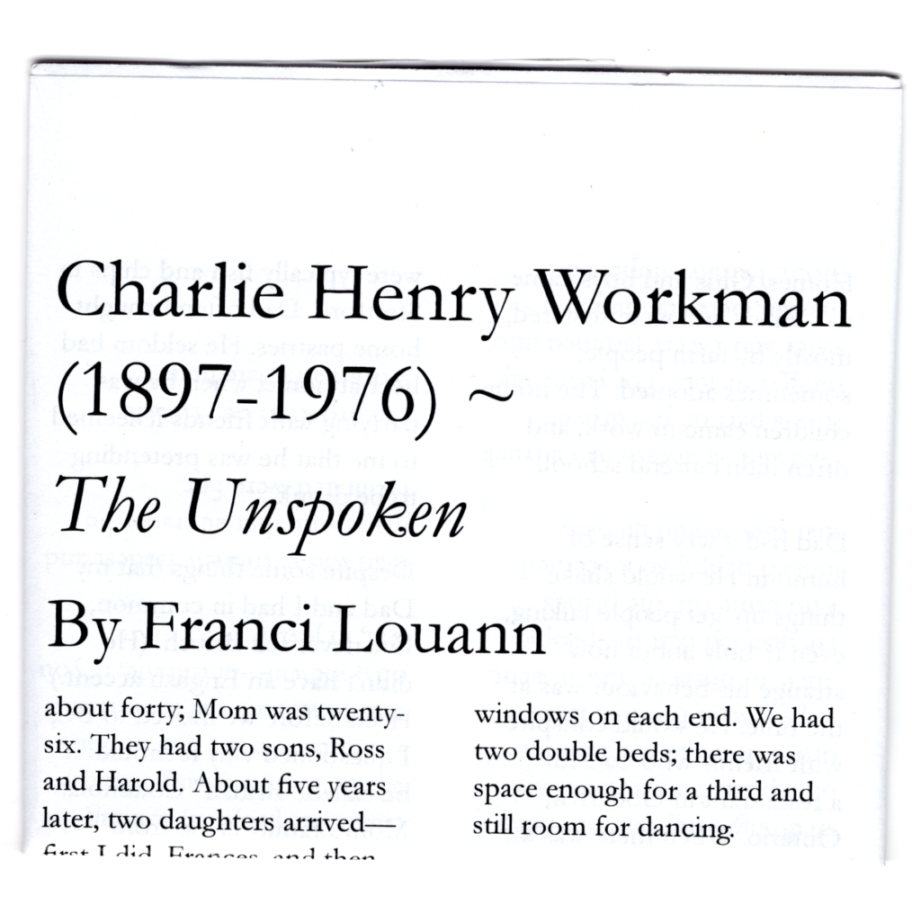 Charlie Henry Workman cover